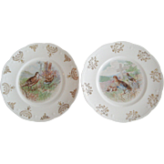 Pair of Owen Minerva Game Bird Plates