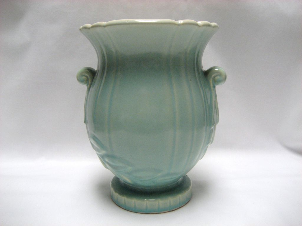 "Weller Pottery Turquoise Raydance 7 1/2"" Vase"