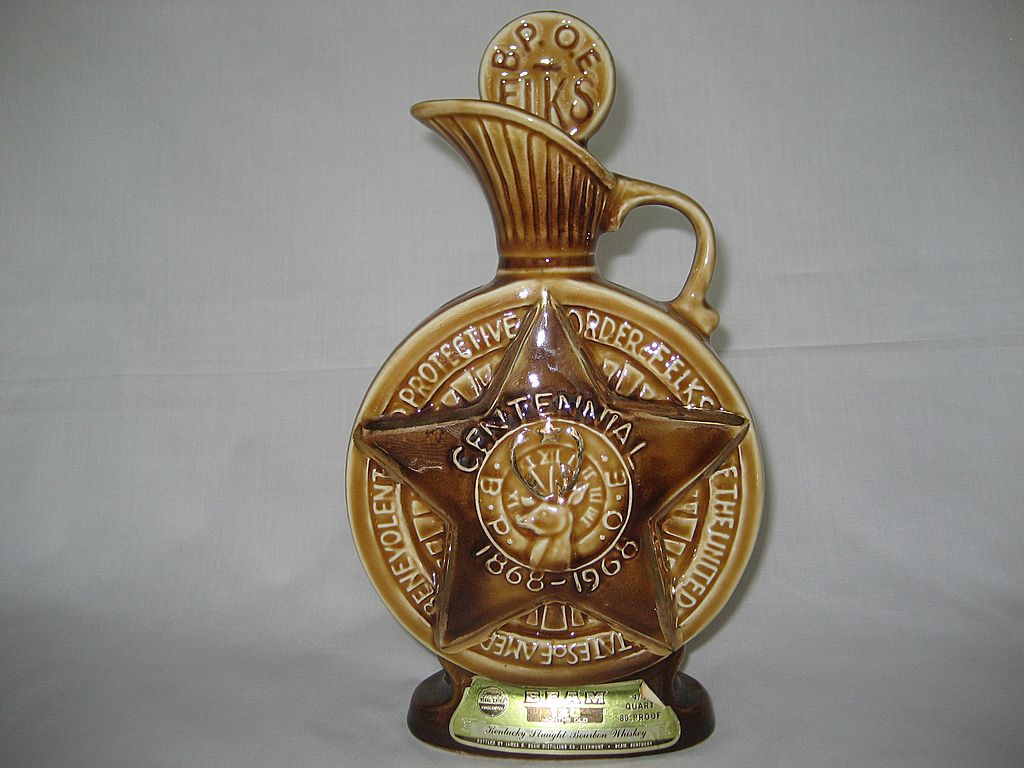 Jim Beam 1968 B P O E Bourbon Whiskey Decanter The