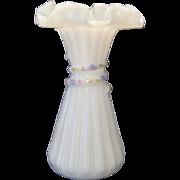 Fenton Petite Fleur Wheat/Cornshock Vase