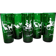 Set of 8 Anchor Hocking Gay Nineties Straight Tumblers