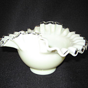 Fenton Ivory Crest Bowl