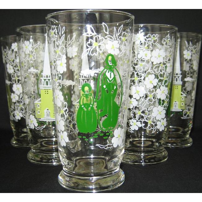 Set of 6 Libbey Americana - New England Traditions - Iced Tea Glasses