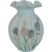 Fenton Frosted Asters Ribbed Vase