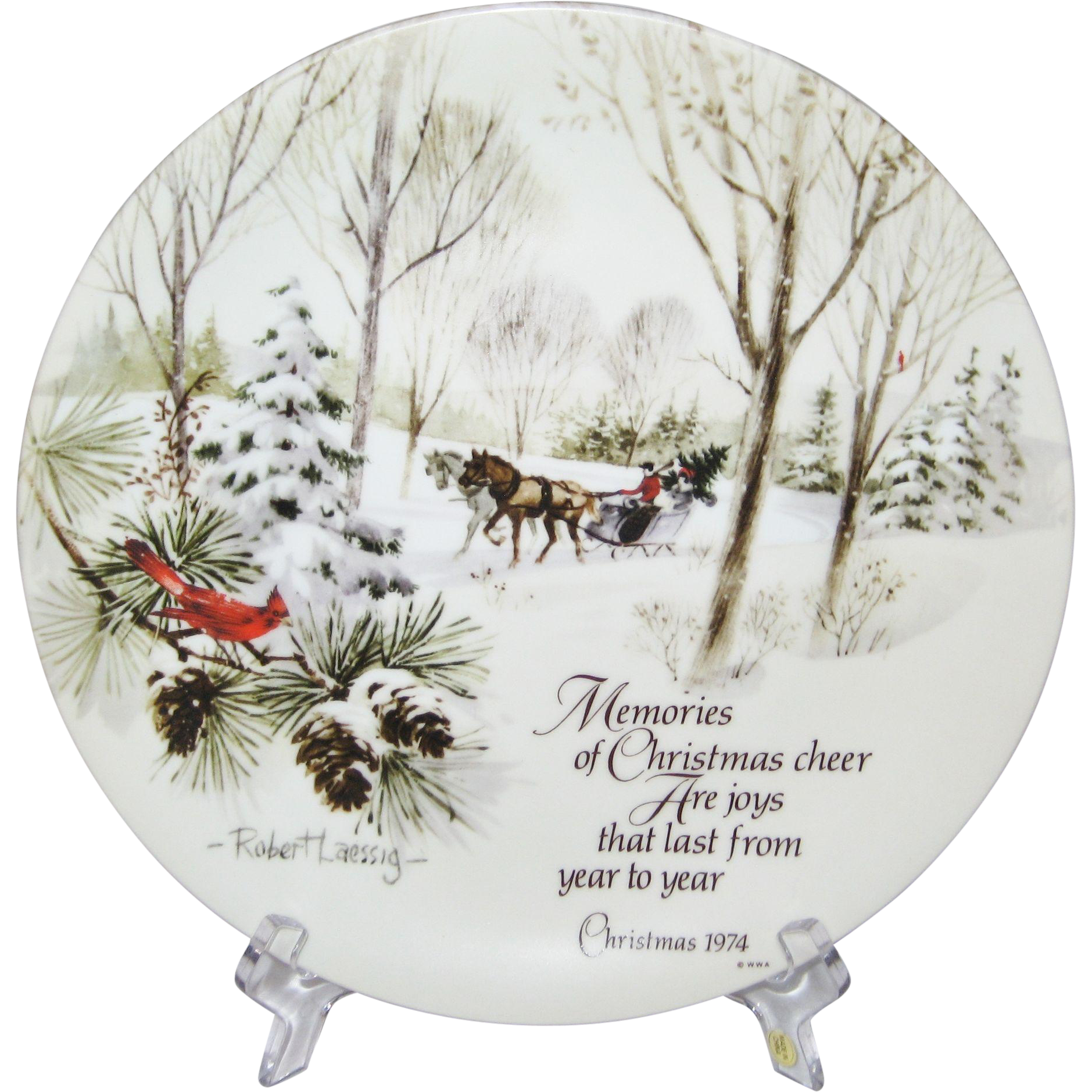 Robert Laessig Winterscene Series Commemorative Edition Christmas Plate