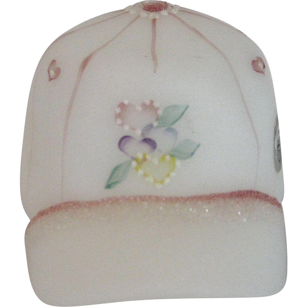 Fenton Hand Painted Girl's Ball Cap