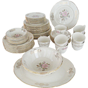"58 Pc. Set Homer Laughlin ""Queen Esther"" Dinnerware"