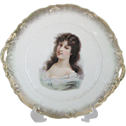 German Portrait Cake Plate