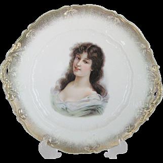 German Portrait Cake Plate