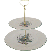 Nikko 2-Tier Christmas Tray