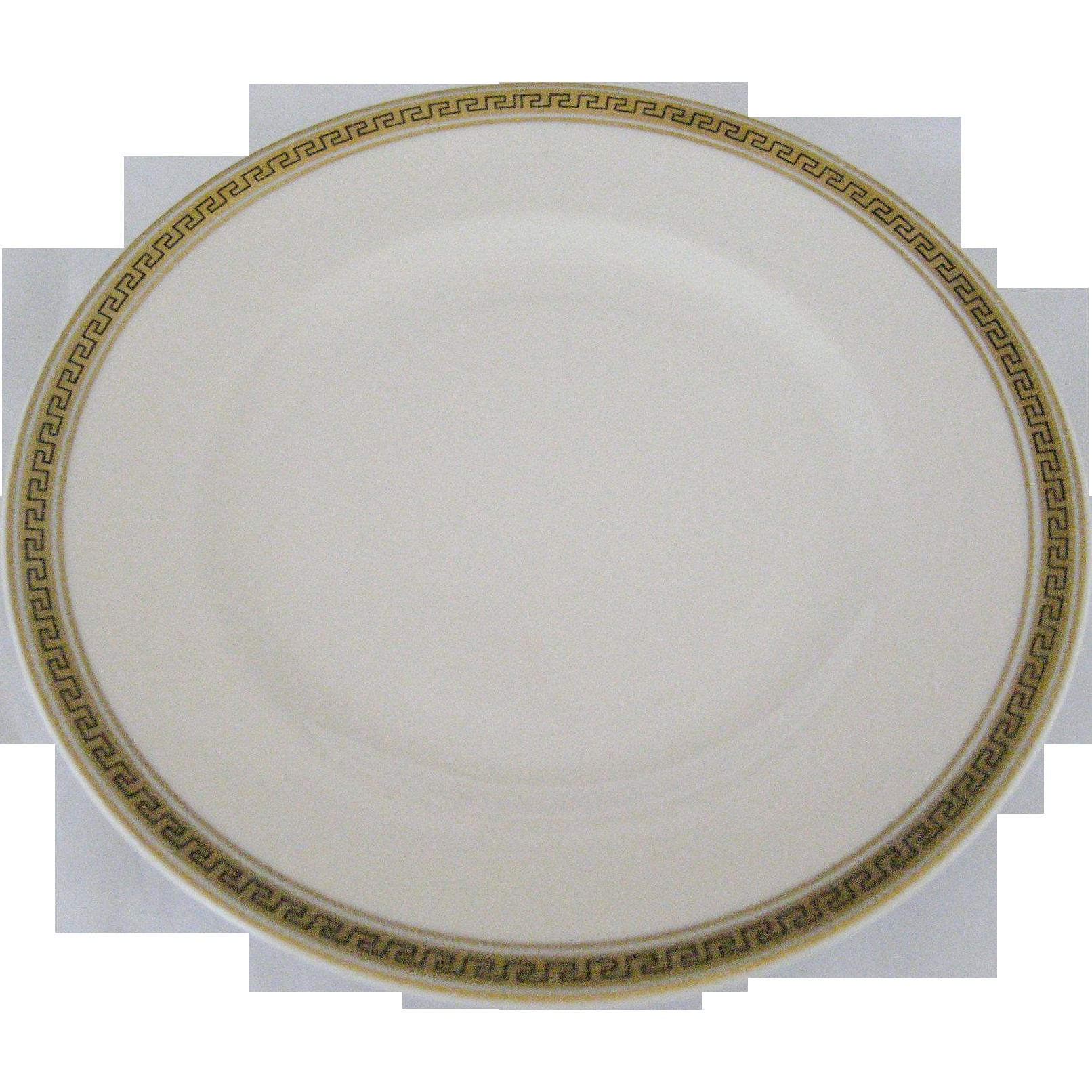 Syracuse Greek Key Salad Plates - 4 Available
