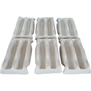 Set of 6 White Frankoma Taco Holders