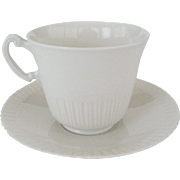Syracuse Shelledge White Cup and Saucer - 9 Available