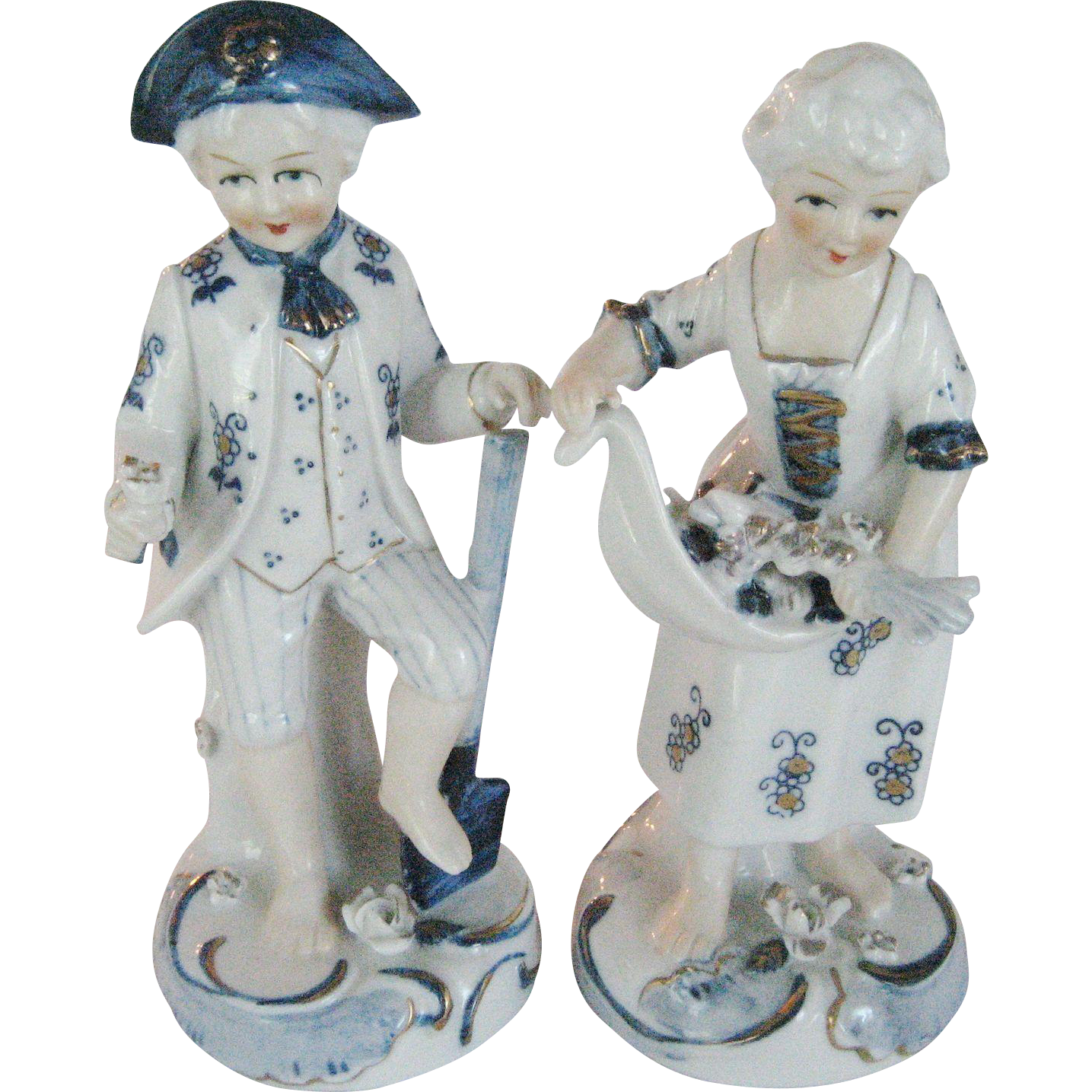 Norleans Colonial Gardening Man and Woman