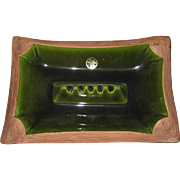 Berkeley Large Green and Brown Ashtray