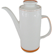 J.G. Meakin Studio Orange Coffee Pot