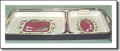 Lacquer Ware Christmas Trays - Made in Japan