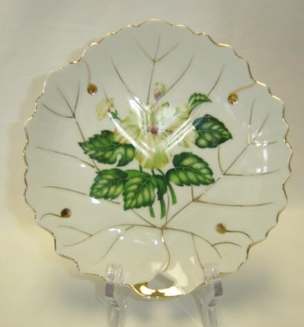 Lovely White Dish With Yellow Floral Pattern -  Nasco