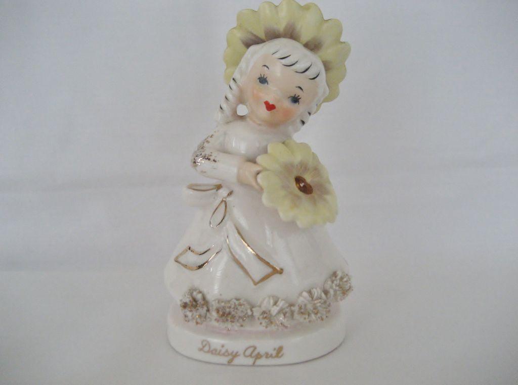 Daisy April Flower Girl Figurine