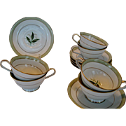 "Noritake ""Greenbay"" Cups and Saucers - 5 Available"