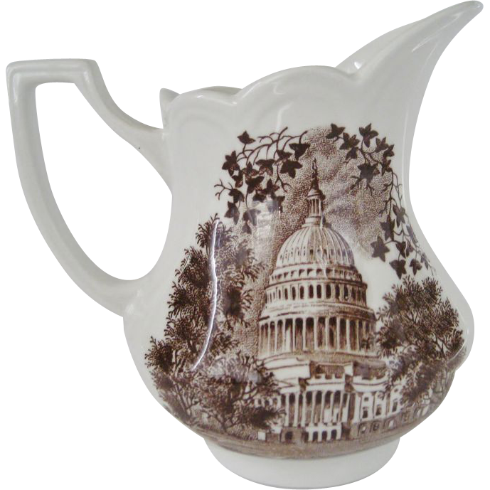 J&G Meakin Royal Staffordshire American Legend Brown Creamer