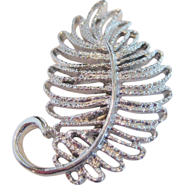 Gerry's Silver-tone Leaf Pin/Brooch