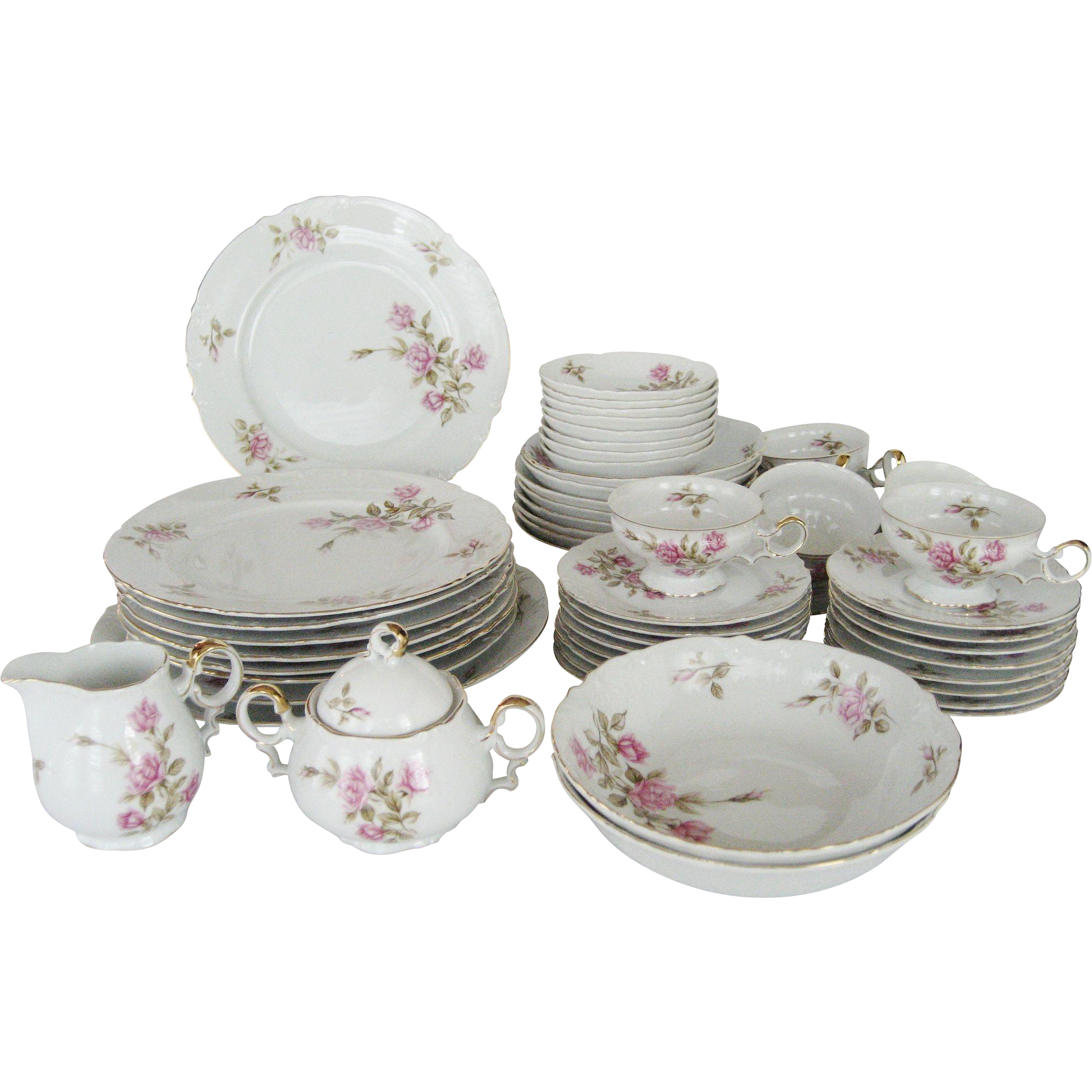 54 Pc. Set Mikasa China Dinnerware - Rosetta