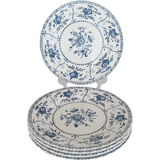 """Johnson Brothers """"Indies Blue"""" Dinner Plate - 5 Available"""