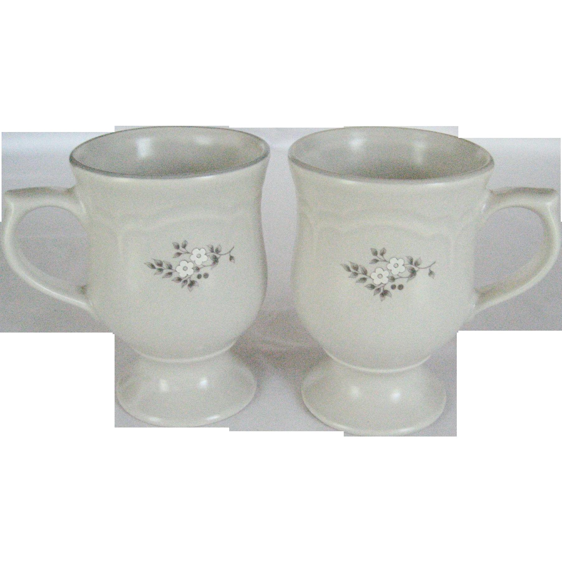 "Pair of Pfaltzgraff ""Heirloom"" Pedestal Mugs"