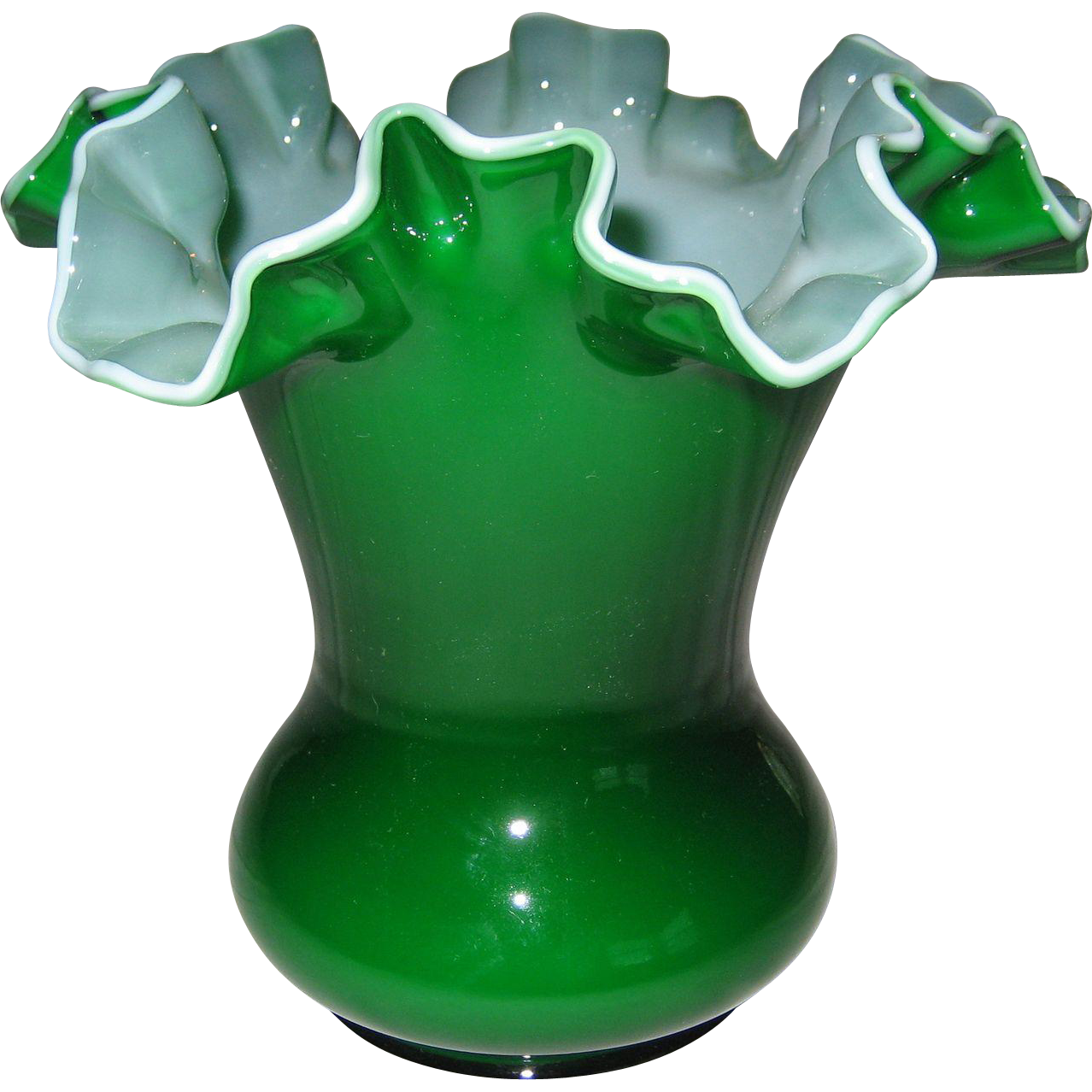 Fenton 6 Quot Ivy Overlay Vase 2 Available From