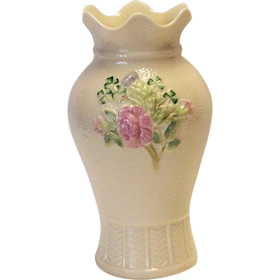 Belleek Floral Vase