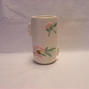 Weller White Rudlor Vase - Pink Flowers