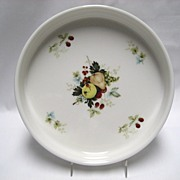 Royal Kent Staffordshire Quiche Dish - Fruit Pattern