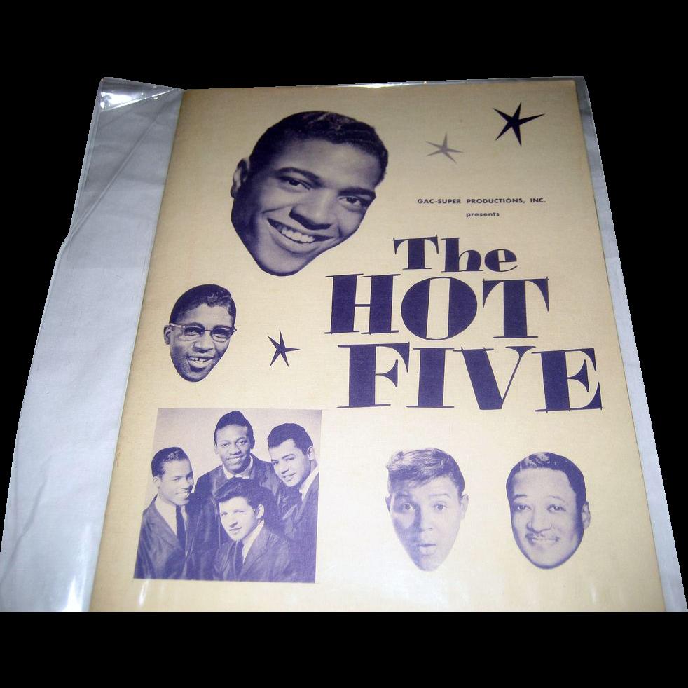 The Hot Five National Tour Program - Winter 1959-1960 - Autographed