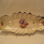 Wellsville China Floral Celery Dish