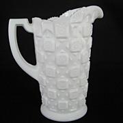 Westmoreland Old Quilt Milk Pitcher - White Milk Glass