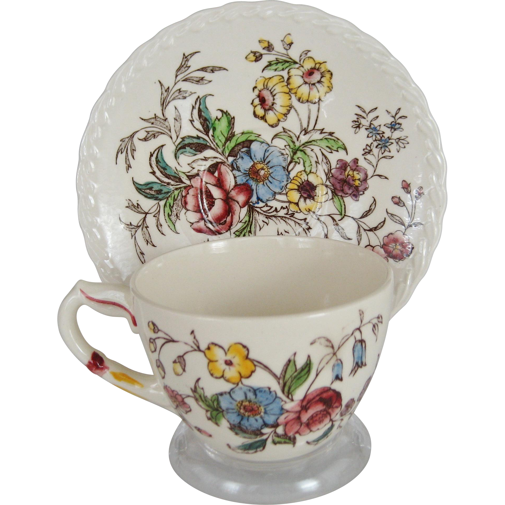 Vernonware May Flower Cup and Saucer - 12 Available