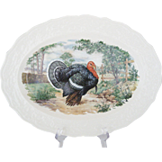 "13 3/4"" Colorful Turkey Platter"