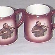 """Set of 4 German """"Monk"""" Mugs"""