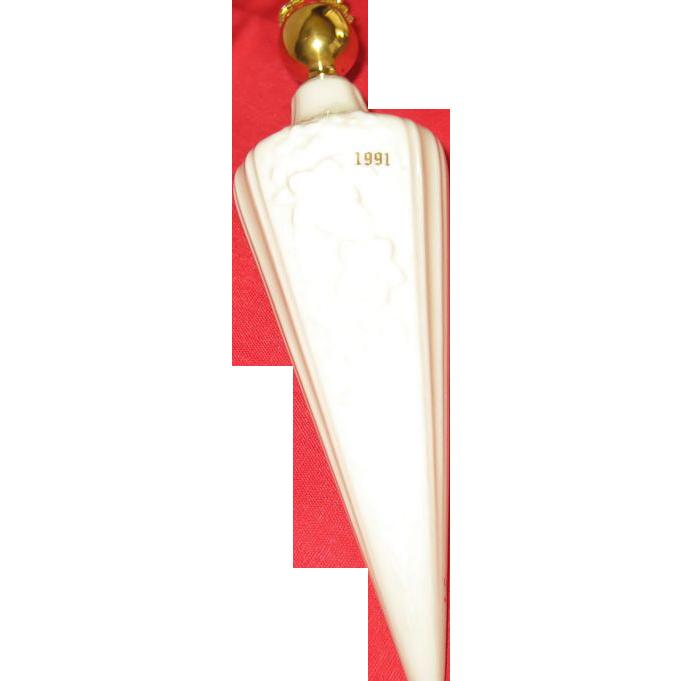 Lenox 1991 Floral Spire Ornament