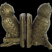 Set of Cast Metal Owl Bookends
