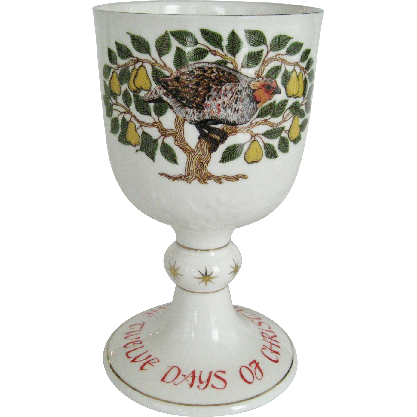 "Royal Doulton ""First Day Of Christmas"" Goblet"