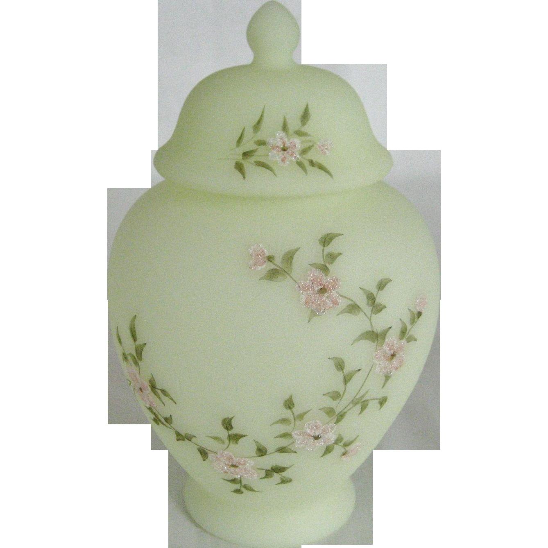 Fenton Pink Blossom Temple Jar