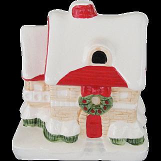 Christmas House Music Box - White Christmas