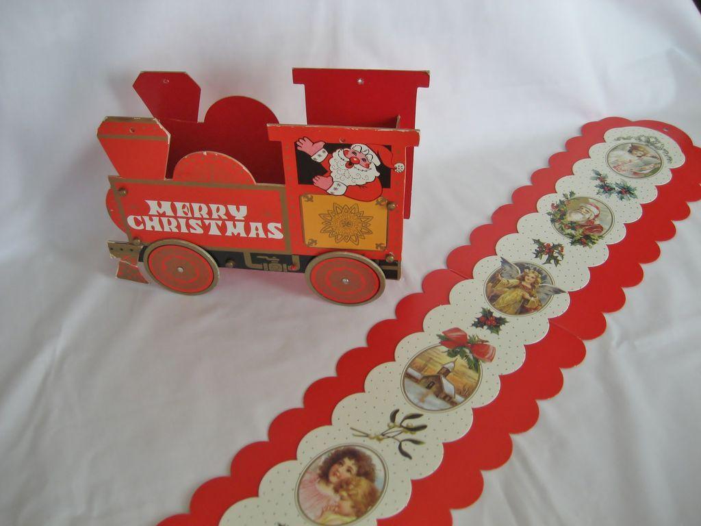 3 Vintage Christmas Card Holders