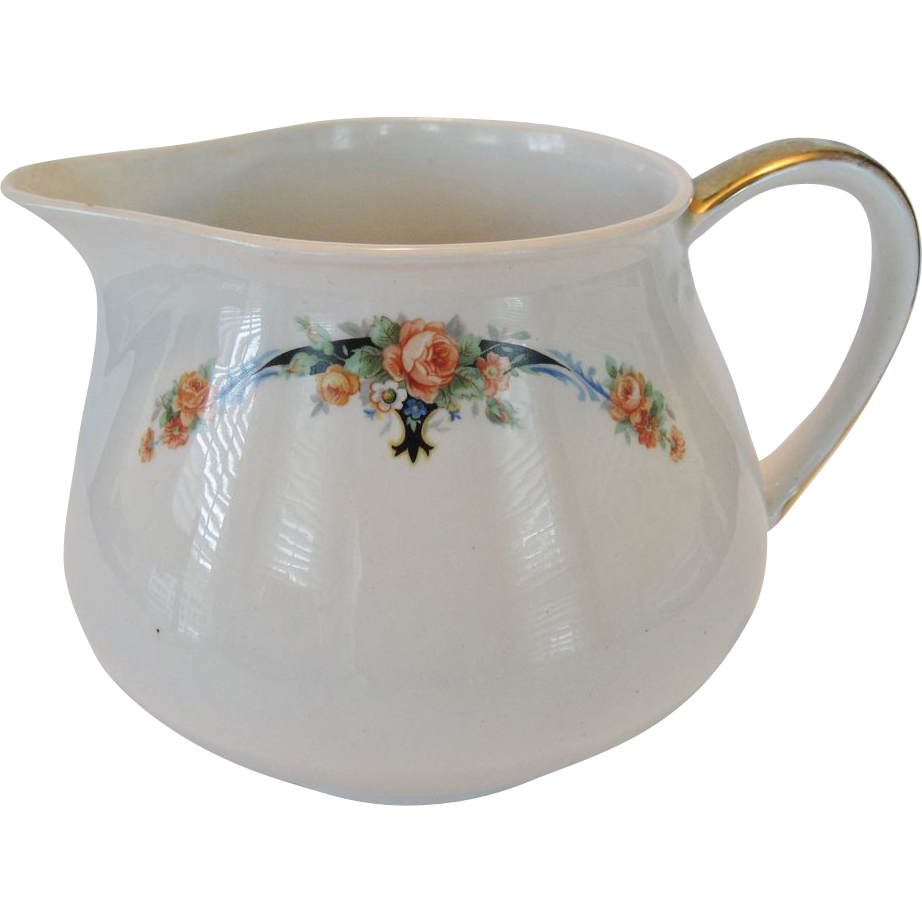 Crown Pottery Lemonade or Milk Jug