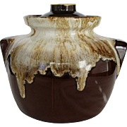 Robinson Ransbottom Brown Drip Bean Pot