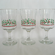 Set of 3 Christmas Goblets - Long John Silver