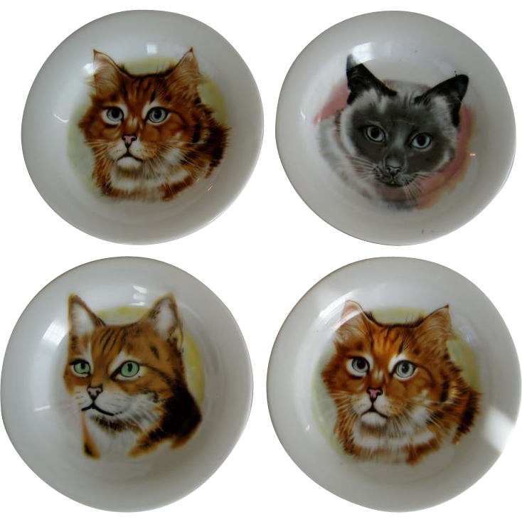 Set of 4 Cat Coasters - Japan