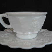 Westmoreland Paneled Grape Cup and Saucer - 5 Available